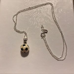 Soccer ball necklace for sale